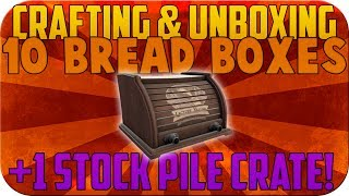 Tf2: Crafting & Unboxing 10 New Bread Boxes + Uncrating A New Stockpile Crate! | Love & War Update!