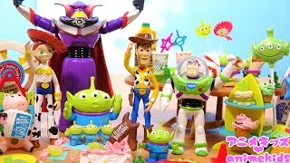 トイストーリー おもちゃ ウッディのバースデーパーティー ❤ リーメント animekids アニメキッズ animation RE-MENT TOYSTORY Toy
