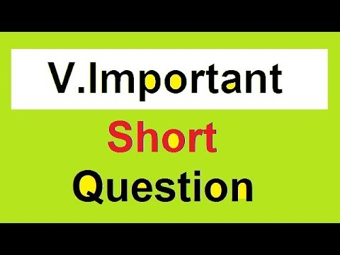 Solved Short Questions | FPSC PPSC AD NAB NTS IB PAST PAPERS