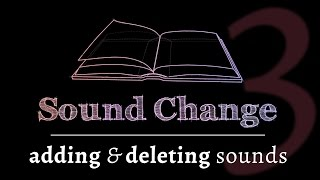 Sound Change - Epenthesis & Elision (part 3 of 5)