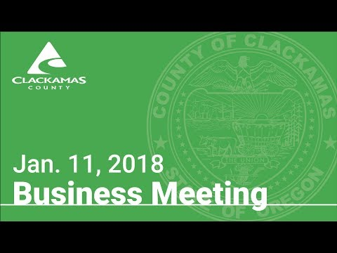 Board of County Commissioners' Meeting Jan. 11, 2018