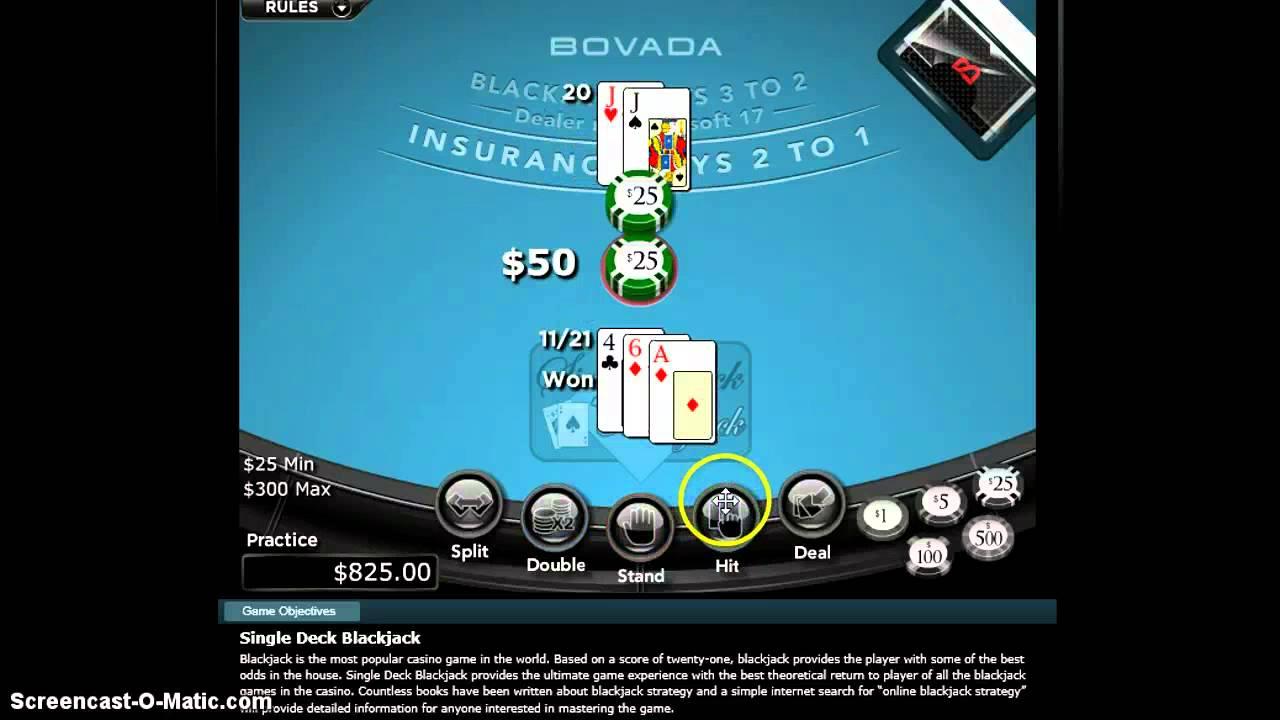 Blackjack single deck counting