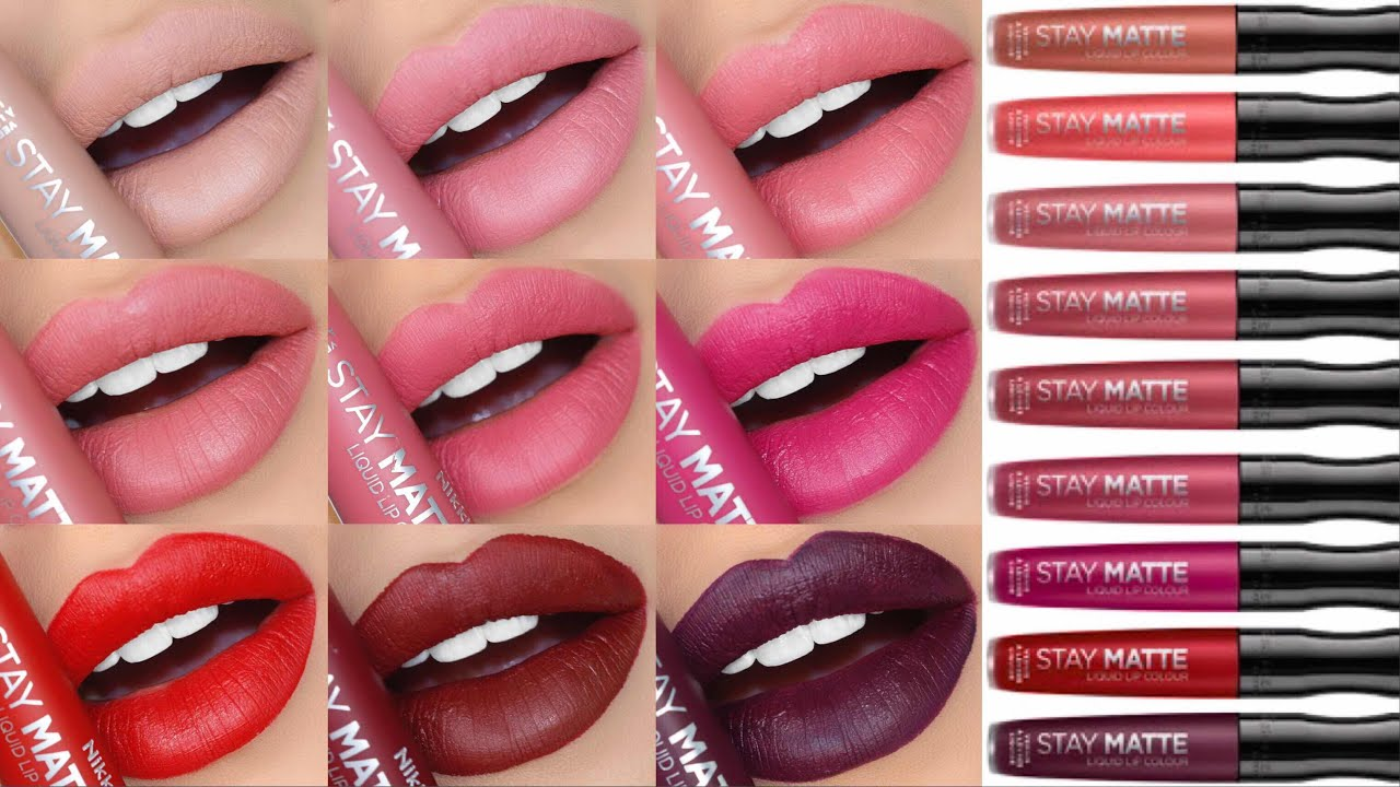 1d155ac6904 RIMMEL STAY MATTE LIQUID LIPSTICKS!! SWATCHES & REVIEW!!! | ALL 14 SHADES!!