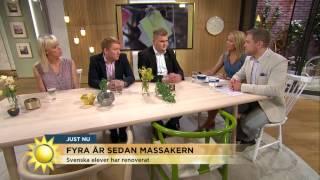 Fyra år sedan terrorattentatet på Utöya - första sommarlägret hålls - Nyhetsmorgon (TV4)