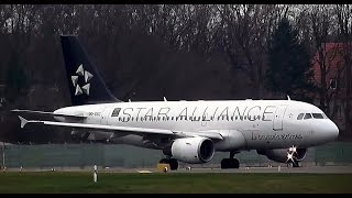 Brussels Airlines SN 2582 Airbus A319-112 OO-SSC 15 years Star Alliance takeoff Berlin Tegel airport