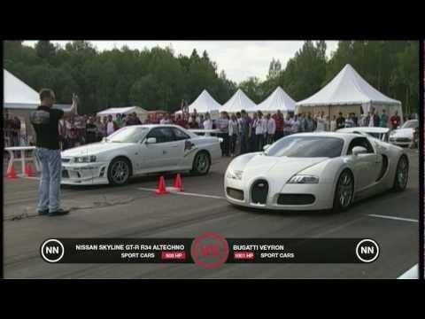 Bugatti Veyron vs Nissan Skyline GT-R R34