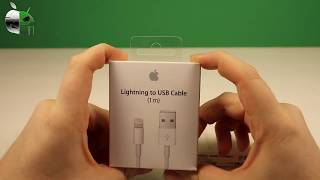 Real Feit  Real Lightning to USB Cable vs  Counterfeit FAKE!! 1