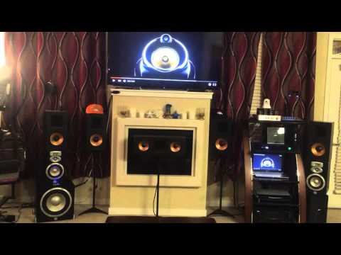 Nobsound ms-10D playing ultra high definition music using Klipsch reference surround sound system
