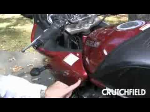 Motorcycle Stereo Installation Crutchfield Video Youtube