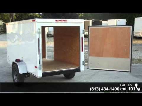 Sale Price 4x8 New Enclosed Trailer W Rear Door And Side
