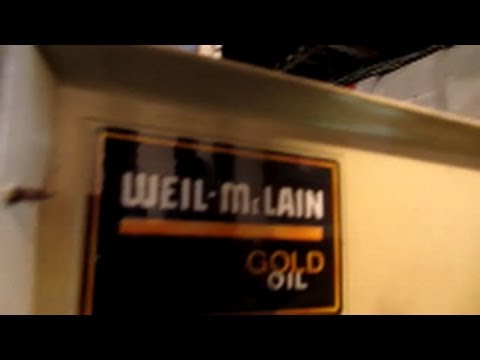 weil mc lain oil fired boiler cleaning ,becket AFG oil burner - YouTube