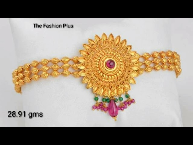 Gold Bajuband |Armlet | designs with weight 2018