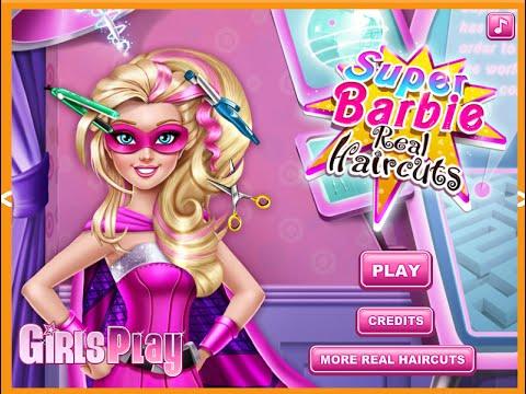Barbie Hair Salon Games For Kids Youtube