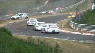 VLN   14. 5. 2011 Unfall Pflanzgarten Porsche Clio