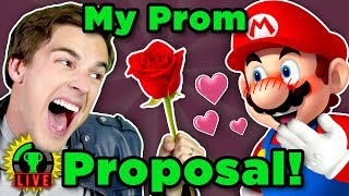 MatPat Promposal Redo! | Mario Maker  ft. Jirard the Completionist (Game Theory Charity Livestream)