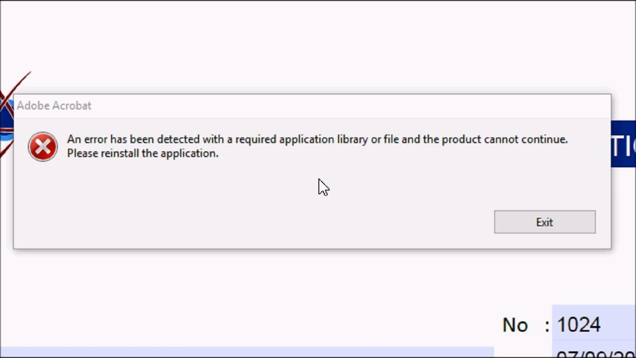 How To Fix Acrobat Xi Pro Error An Error Has Been Detected With A