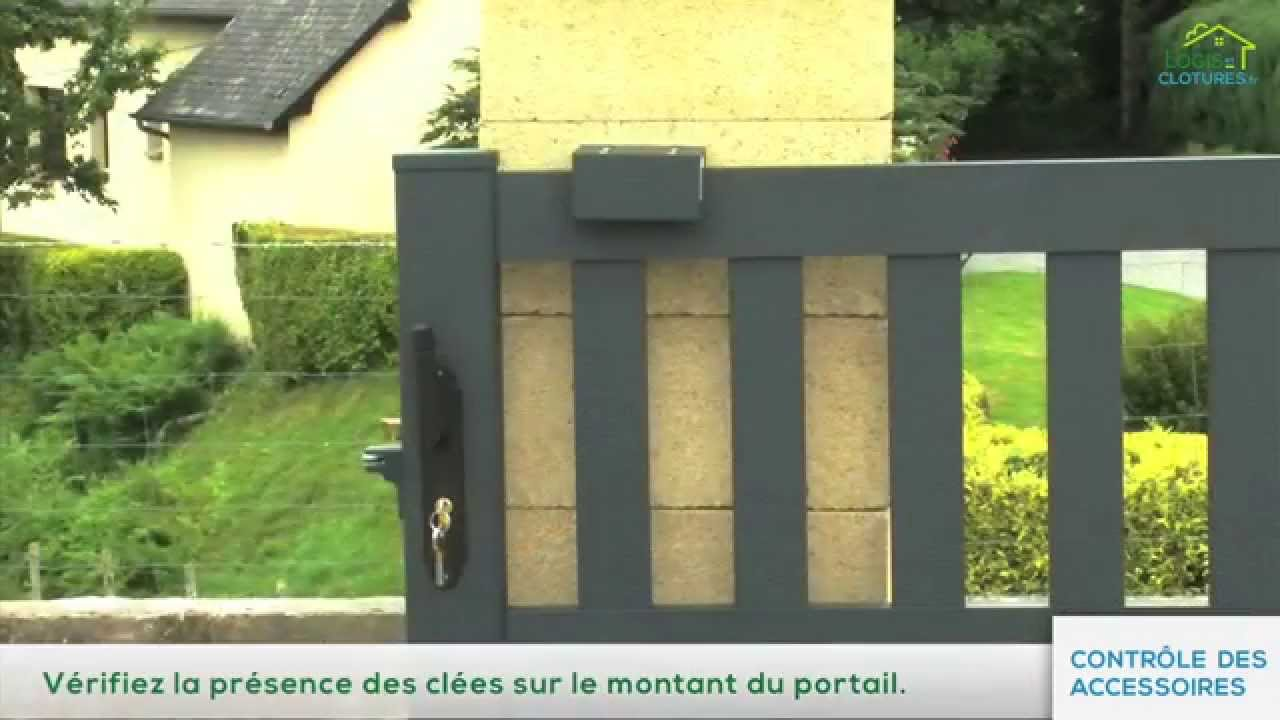 installation d 39 un portail coulissant par logis et cl tures youtube. Black Bedroom Furniture Sets. Home Design Ideas