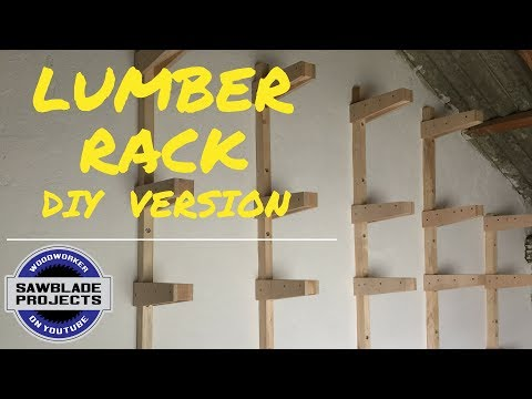 How to build a wooden lumber rack