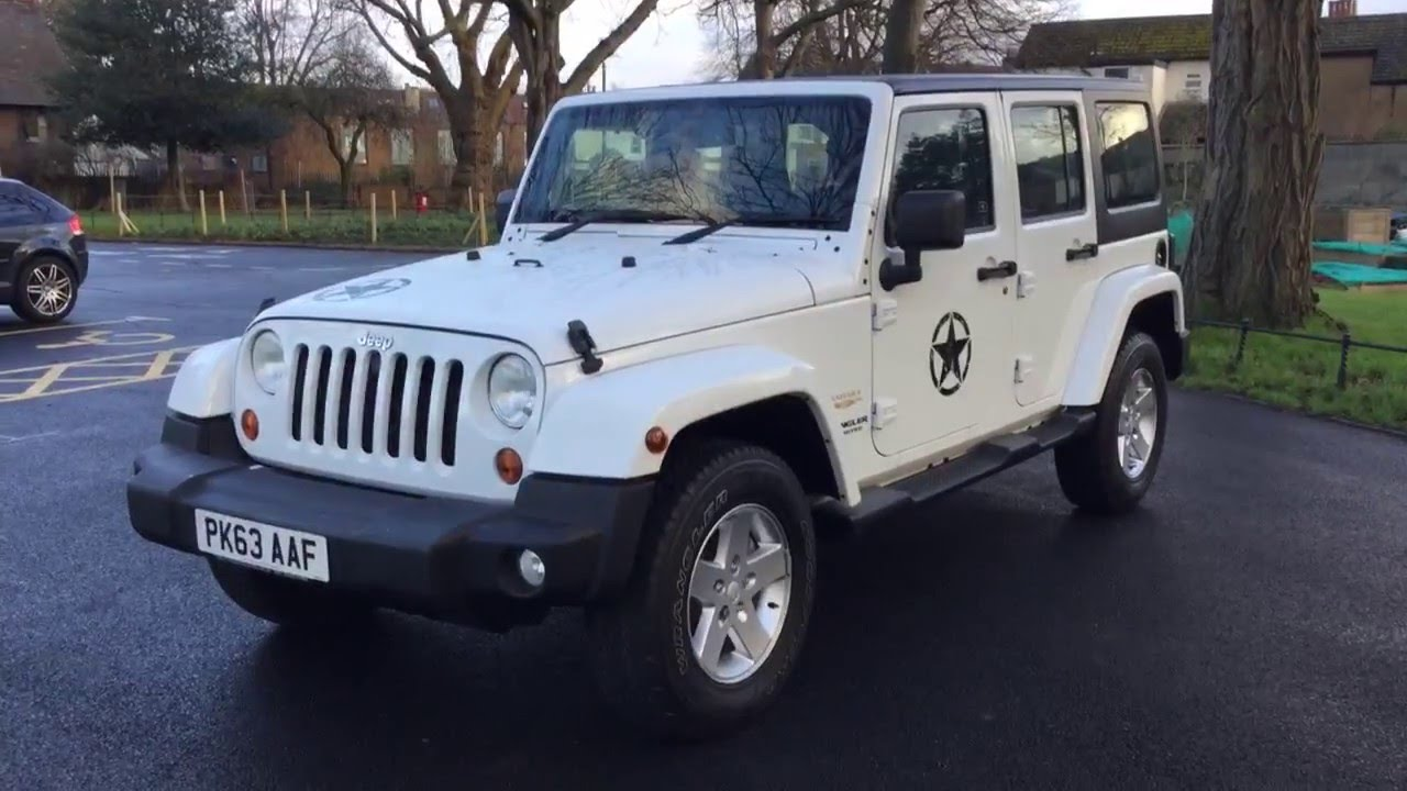 White Jeep Wrangler 2 8 Crd Turbo Diesel Sahara Unlimited
