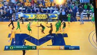 #10 Oregon vs #5 Michigan - Crazy final minutes - live reaction
