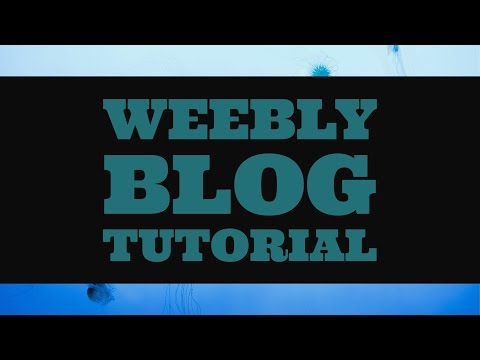 Weebly Blog Tutorial