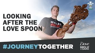 #journeytogether with Wales and their Love Spoon