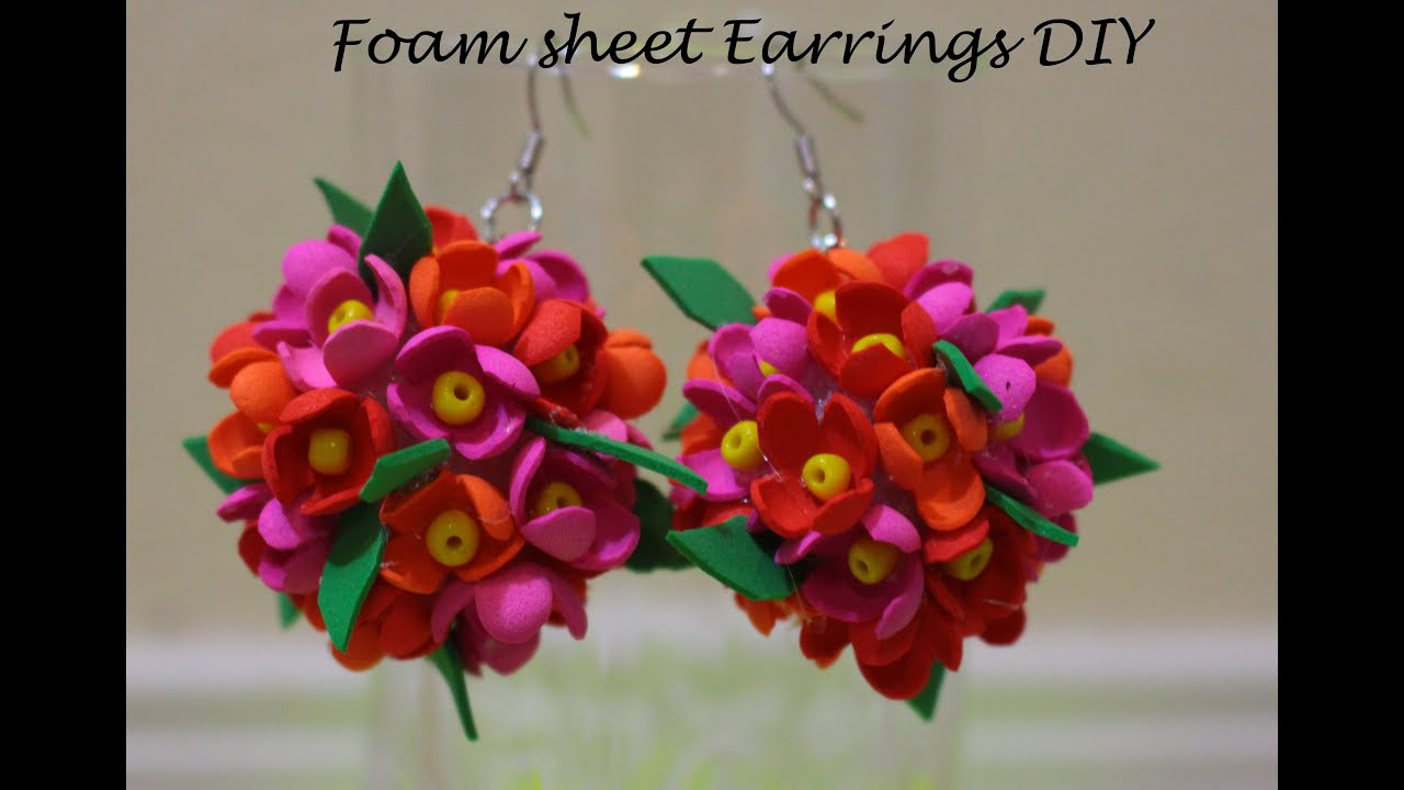 craft ideas using foam sheets earrings diy using foam sheet style 2 6301