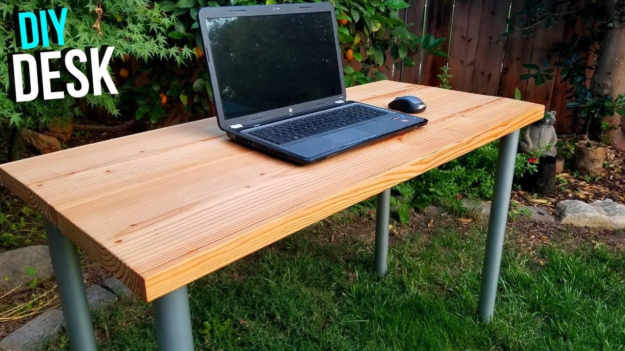 easy diy desk build with screw on legs jonny diy