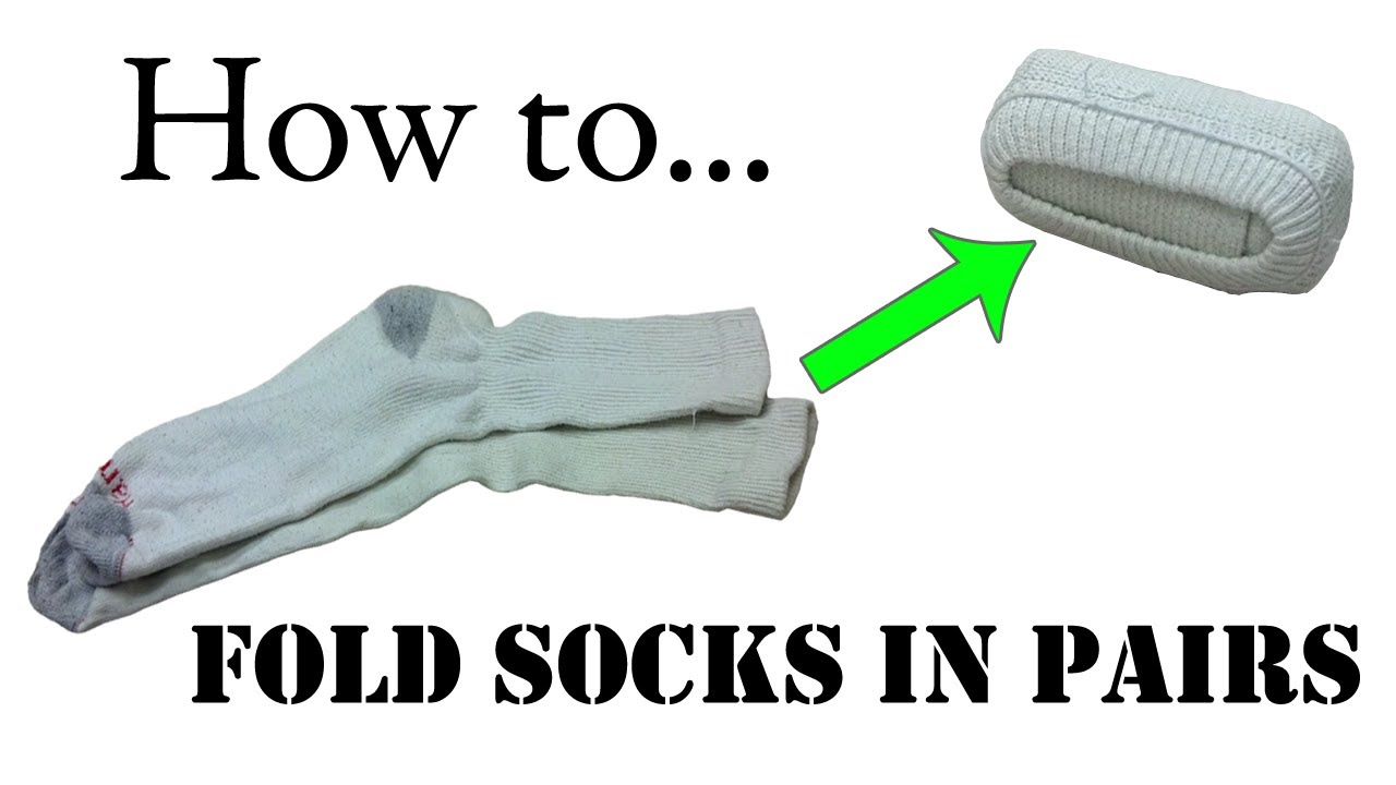 Best way to fold clothes for suitcase - Army Packing Hack How To Fold Your Socks In Pairs Double Roll Ranger Roll Basic Training