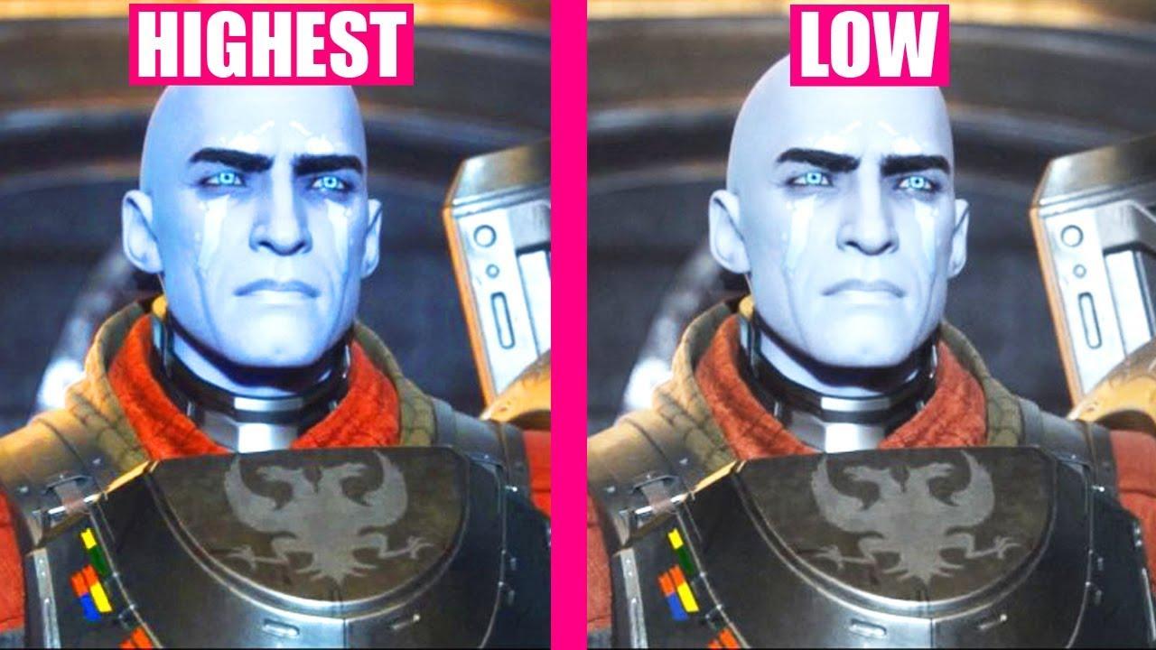 DESTINY 2 : LOW vs HIGHEST Graphics Settings Comparison