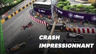 La pilote de Formule 3 Sofia Flörsch dans un grave accident à Macao