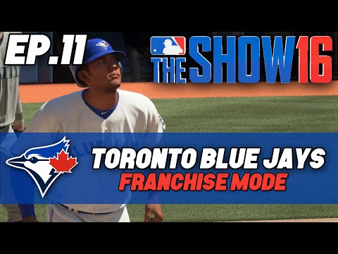"""MLB The Show 16 Blue Jays Franchise ep. 11 - """"Martin OUT...New Backup Catcher!"""""""