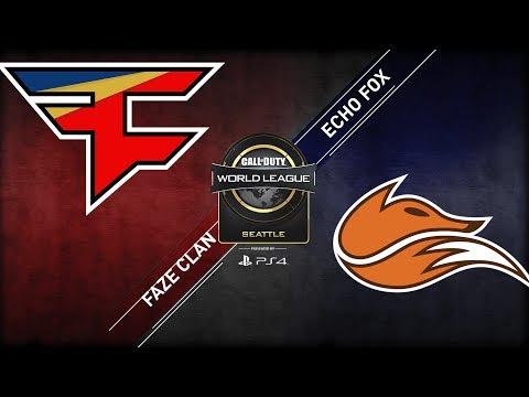 Echo Fox vs FaZe Clan | CWL Seattle Open 2018 | Day 1 | Bravo Stream