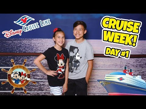ALL ABOARD THE DISNEY MAGIC!!! Room Tour & Sail Away Party! CRUISE WEEK