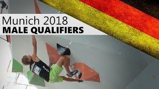 Male Qualifiers | 2018 Munich Bouldering World Cup