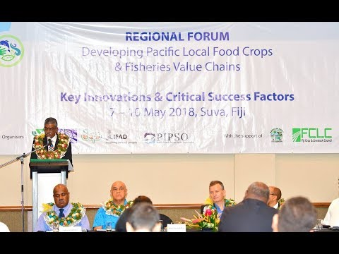 Fijian Assistant Minister officiates at the Regional Forum on Food Crops and Fisheries.