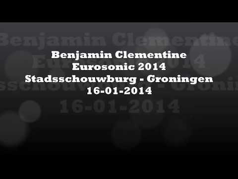 Eurosonic 2014 Benjamin Clementine, Stadsschouwburg Groningen 2 songs live