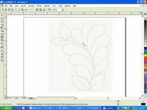 Tracing for digitizing with corel