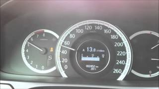 Honda Accord 9 (2.4L) acceleration 0-100km\h