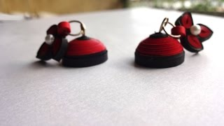 How to make 2 color Quilling Stud Jhumka | BASIC | PQP #005