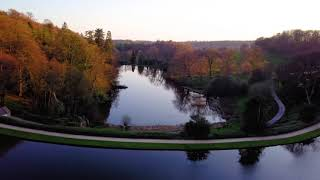Stourhead Gardens and King Alfreds Tower by Drone 4K