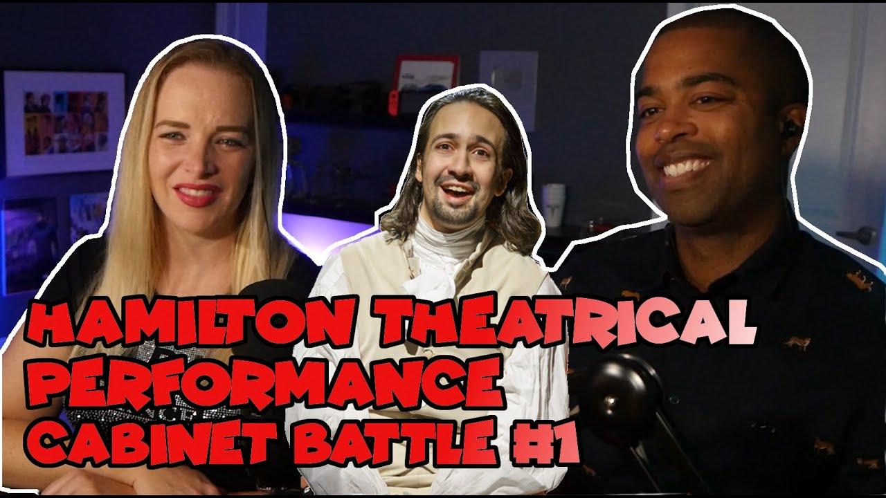 Couple React Hamilton theatrical performance - Cabinet Battle #1 - REACTION 🎵