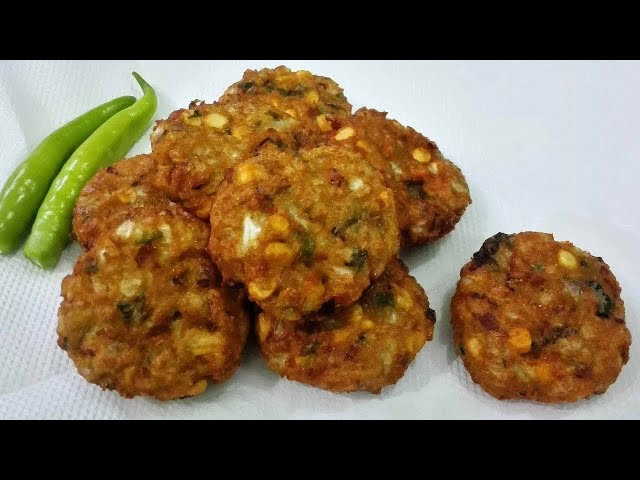 Cabbage vadas (క్యాబేజీ వడలు) | How to make Cabbage Dal Vada | Cabbage dal vada | PDTV Foods