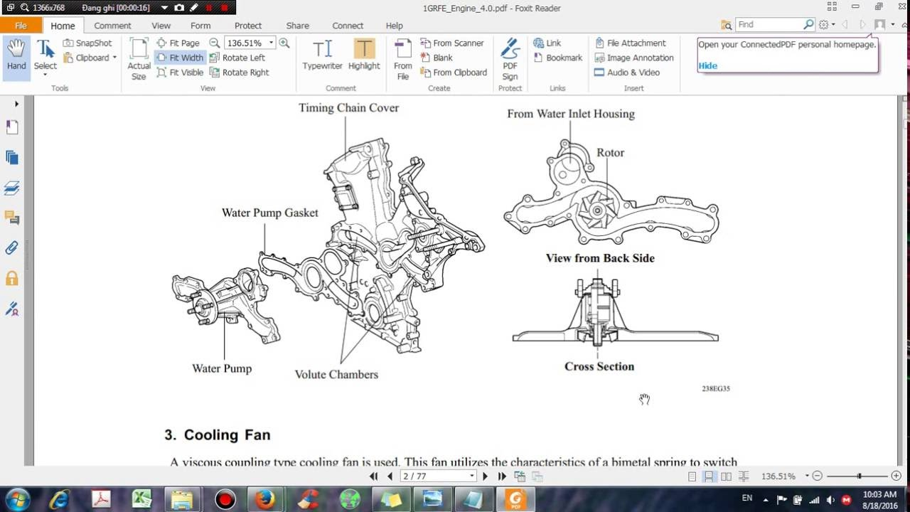 toyota engine 4 0 1grfe repair manual dhtauto com youtube rh youtube com toyota 4 0 engine diagram 1hz toyota diesel engines [ 1280 x 720 Pixel ]