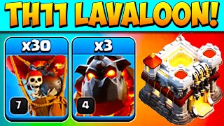 ????TH11???? 3 WAYS TO DESTROY WITH LAVALOON! Town Hall 11 Attack Strategy Clash of Clans