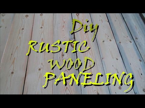 DIY Rustic Wood Wall Paneling Homemade