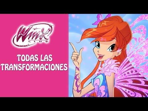 Winx Club - Todas Las Transformaciones en Español Latino!