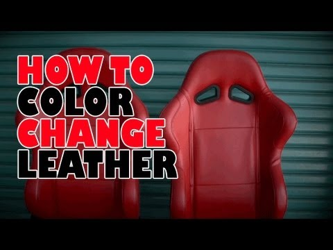 How to, color change leather - YouTube