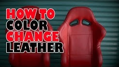 How to, color change leather