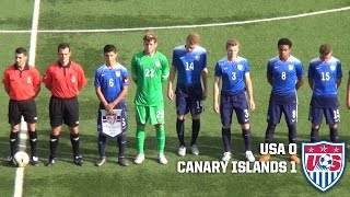 U-19 MNT vs. Canary Islands: Highlights - Feb. 5, 2016